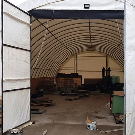 modification of the tent hangar gate